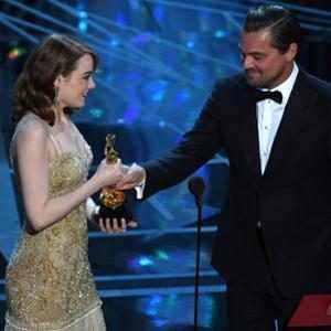 Emma Stone, Leonardo DiCaprio, 2017 Oscar Awards