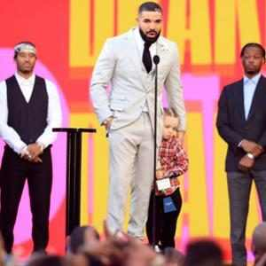 Drake Cuddles With Son Adonis in Rare Appearance During His Billboard Music Awards Speech