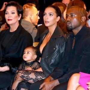 Kris Jenner, Kim Kardashian, Kanye West, North West