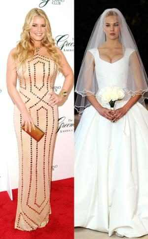 Celeb Wedding Dresses, Jessica Simpson