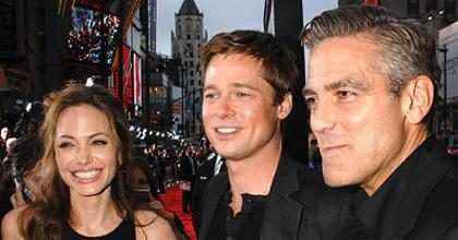 A reação de George Clooney ao saber do divórcio de Angelina Jolie e Brad Pitt