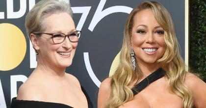 Así respondió Meryl Streep luego que Mariah Carey le robara su asiento en los Golden Globes ¡Mira!