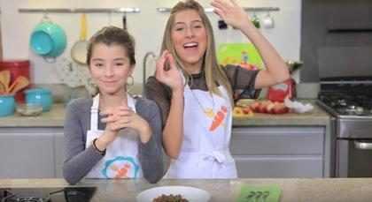 Sofia e Ivana, do MasterChef Junior, usam receita do chefe Fogaça em vídeo