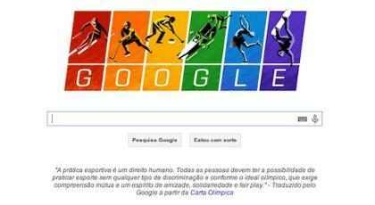 Google protesta contra lei russa com cores da bandeira gay