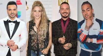 Luis Fonsi, Shakira, J Balvin y Ozuna, los máximos nominados al Latin Billboard 2018