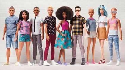 Boneco Ken ganha versões com diferentes corpos, tons de pele e penteados