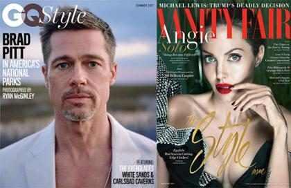 La diferencia entre las entrevistas de Brad Pitt y Angelina Jolie luego de su separación