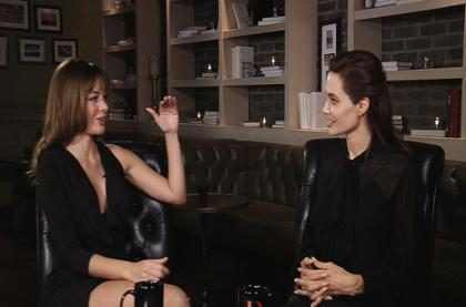 ¡Angelina Jolie llega a Coffee Break! (+Video)