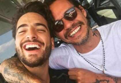 Así respondió Maluma a Marc Anthony el beso que le robó