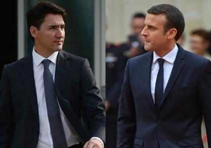 Emmanuel Macron y Justin Trudeau protagonizan el <em>bromance</em> m&aacute;s deseado por todos