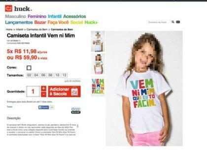 Grife de Luciano Huck cria camiseta infantil com frase polêmica