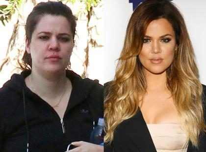 As Kardashians com e sem maquiagem