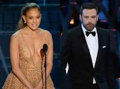 Ben Affleck susurrou no ouvido de Jennifer Lopez no Oscar 2015