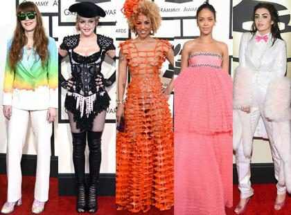 As famosas mais mal vestidas do Grammy Awards 2015