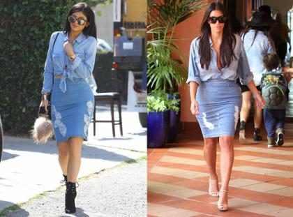 Os momentos em que Kylie Jenner e Kim Kardashian foram quase a mesma pessoa