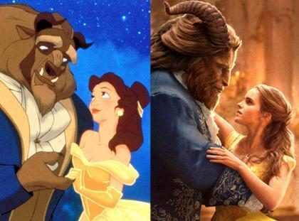 Personajes animados Vs. versión real de La Bella y La Bestia (+ Fotos)
