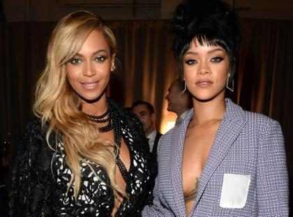 ¿Cómo fue el reencuentro de Rihanna y Beyoncé en los Grammys? (+ Video)