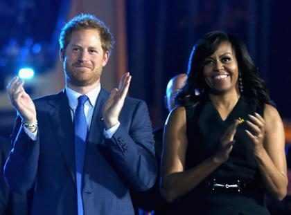 Michelle Obama diz que Harry é um príncipe encantado