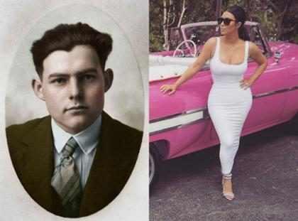 No creerás la increíble conexión que existe entre Kim Kardashian y Ernest Hemingway (+ Video)