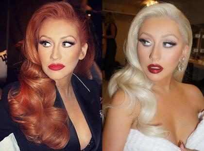 Christina Aguilera muda o visual novamente e volta a ser loira