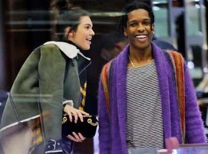 Kendall Jenner é flagrada em joalheria com A$AP Rocky