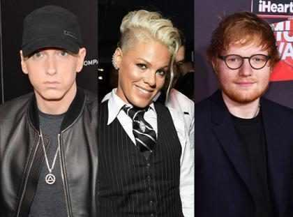 Eminem se unió a Ed Sheeran y a Pink para dos nuevas canciones y tienes que escuchar lo que hicieron