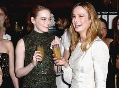 Mira el emocionante momento en el que Emma Stone y Brie Larson se conviertieron las BFF de los Oscars (Video + Foto)