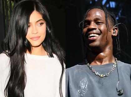 Travis Scott habla con Kylie Jenner por FaceTime durante una presentación