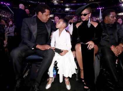 Beyoncé e Blue Ivy chegam no Grammy Awards 2018 para apoiar Jay Z