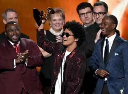 Bruno Mars vence na categoria Álbum do Ano no Grammy Awards 2018