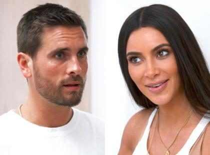Kim Kardashian fica passada ao perceber que Scott Disick não sabia de seu terceiro bebê