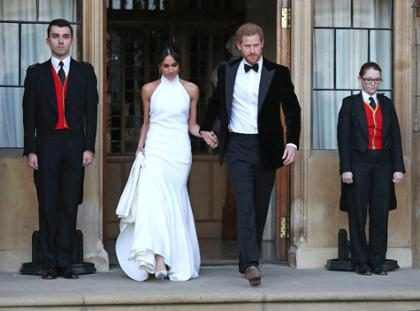 ¡Deslumbrantes! Así llegaron Meghan Markle y el príncipe Harry a la recepción de su boda