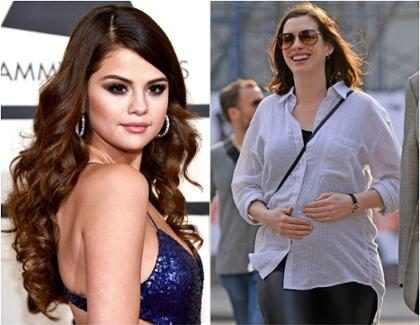 Anne Hathaway grava 1º vídeo do Snapchat com Selena Gomez em festa do Oscar