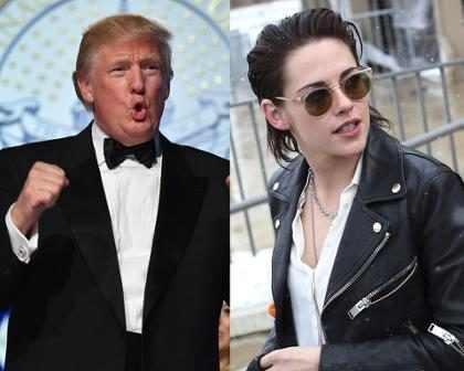 Kristen Stewart habló acerca de cuando Donald Trump estaba obsesionado con ella por la infidelidad a Robert Pattinson (+ Video)