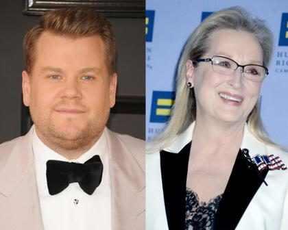 OMG! ¡James Corden llamó 'pe**a' a Meryl Streep!
