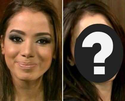 O antes e depois de Anitta sem maquiagem