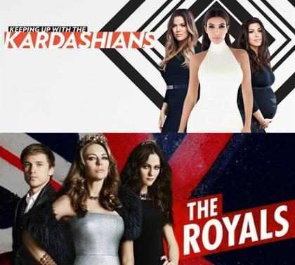 Os horários e dias das reprises de Kardashians e The Royals no canal E!