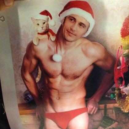 James Franco aparece sem camisa em calendário