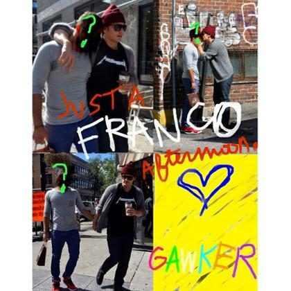 James Franco publica foto beijando outro homem