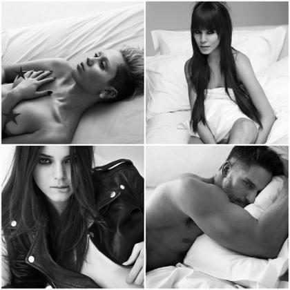 Miley Cyrus, Kendall Jenner e ator de True Blood posam pelados na cama