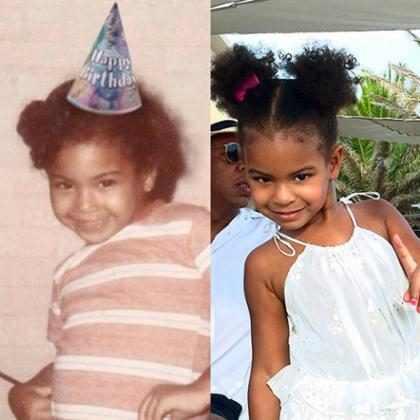 Foto prova que Blue Ivy é a cópia fiel de Beyoncé