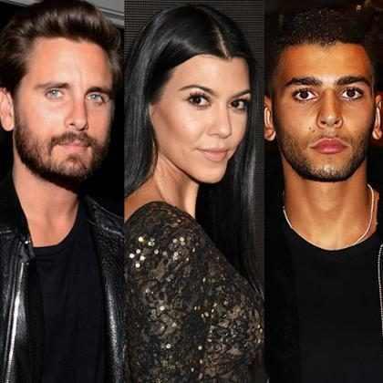 Scott Disick y el novio de Kourtney Kardashian asistieron a la misma fiesta de Navidad