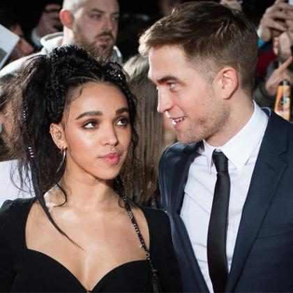Robert Pattinson e FKA Twigs fazem rara aparição juntos em première