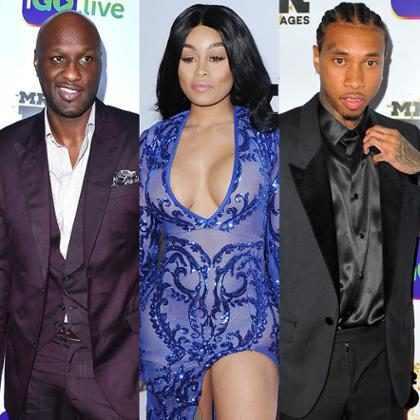 Los ex de los Kardashians se reunieron: Blac Chyna salió de fiesta con Tyga y Lamar Odom