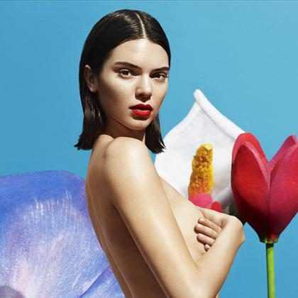 Kendall Jenner posa de topless em campanha sexy de lingerie