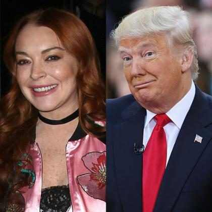 Lindsay Lohan se lanzó a Twitter para defender a Donald Trump