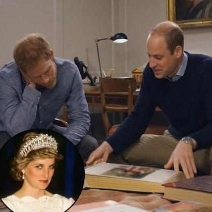 Príncipes William e Harry revelam suas reações à morte da princesa Diana