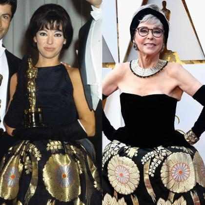 Rita Moreno usa vestido de 1962 para o tapete vermelho do Oscar 2018