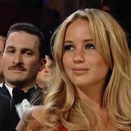 Gifs mostram Darren Aronofsky secando Jennifer Lawrence no Oscar de 2011