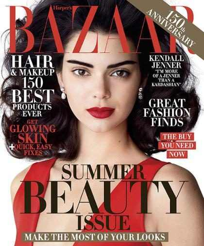Kendall Jenner posa no maior estilo Elizabeth Taylor para a Harper's Bazaar
